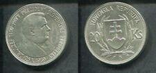 SLOWAKEI 1939 - 20 Kronen in Silber, vz - JOZEF TISO