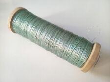 Ancienne grosse bobine en bois de fil métallique création couture - 4