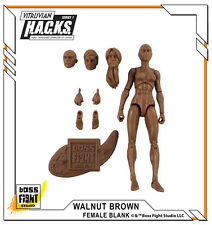 "Boss Fight Studios - BLANK Walnut Brown Female Body - Vitruvian HACKS 4"" Blanks"