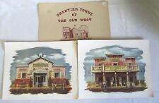 SET OF TWO ALICE SMITH ART PRINTS: FRONTIER TOWNS OF THE OLD WEST