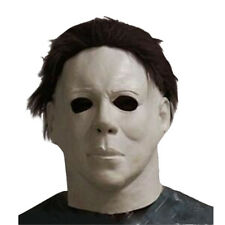 Michael Myers Mask Latex Full Head Halloween Deluxe Adult Size Fancy Dress Masks