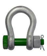"""Van Beest Green Pin Nut,Bolt & Cotter Anchor Safety Shackle 2.5"""" w/ 55 Ton WLL"""