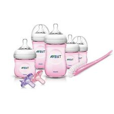 Philips AVENT Newborn Bottles Set 5 BPA Free Infant Baby Girl Starter Kit Pink