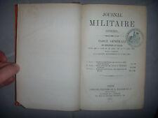 Militaria, Guerre: Journal militaire officiel: Table générale dispositions, 1883