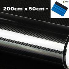 Pellicola adesiva CARBONIO NERO lucido 5D con texture 4D misura cm 50x200 auto