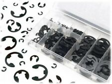 300 Pcs E Clip Assortment Sae E-Clips Black Oxide Retaining Ring