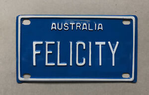 FELICITY Novelty Mini Number Plate