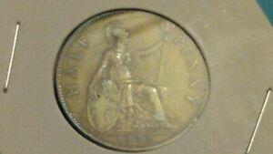 ⭐HIGH GRADE 1933 GREAT BRITAIN HALF~PENNY COIN SHIPS FREE 😃