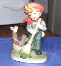 "Vintage Flambro Collectors Choice Series Ceramic Figurine 5"" Boy Tag & Mark"