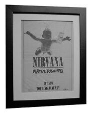 NIRVANA+Nevermind+POSTER+AD+ORIGINAL 1991+TOP QUALITY FRAMED+EXPRESS+GLOBAL SHIP