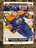 Connor McDavid 2015-16 portfolio color art rookie RC