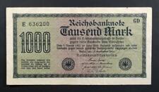 Germany 1000 Marks Reichsbanknote~15/09/1922 Berlin~P#76a~VFine~E 636200 GD