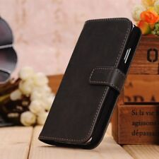 Leather Wallet Case Flip Cover For Samsung Galaxy S4 in Grey