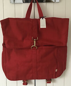 Seasalt Island Tradition Red Canvas Backpack/Rucksack BNWT