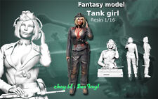 Model Kits Female Tank Girl Soldier 1/16 Figure Sexy Resin Unpainted Unassembled