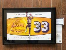 Kareem Abdul Jabbar Autographed Lakers Championship Jersey Numbers Piece UDA