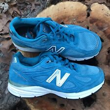New Balance Women's 990v4 Lake Blue Made in USA Running Shoe Size -8