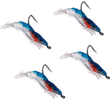 5Pcs Soft Silicone Simulation Fishing Lure Shrimp Soft Jig Lead Prawn Fishing