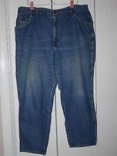 Vintage Blue Denim Chic Jeans, Women's Size 26Wp, Straight Leg, Petite