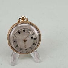 Antike Spindel Taschenuhr in 18K Gold verge fusee pocket watch