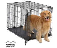 MidWest Homes for Pets Dog Crate | iCrate Single Door Folding 42-Inch w/ Divider