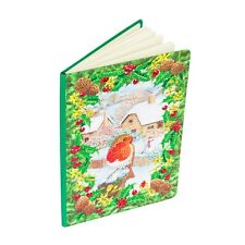 Craft Buddy fai da te Crystal Art Natale NOTEBOOK Winter Robin Diamond PITTURA