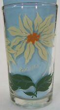 Poinsettia Peanut Butter Glass Glasses Drinking Kitchen Mauzy 84-4