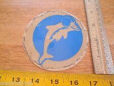 "Miami Dolphins football VINTAGE 1980s sticker 4"""