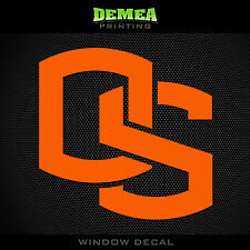 "Oregon State Beavers_OSU - NCAA - Orange Vinyl Sticker Decal 5"""