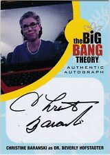 THE BIG BANG THEORY SEASONS  6 & 7 CB1 CHRISTINE BARANSKI DR. BEVERLY AUTOGRAPH