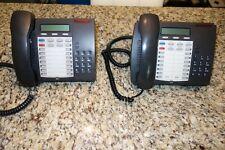 Lot Of 2 Mitel Superset 4025 Speaker Display Dark Grey With Handsets