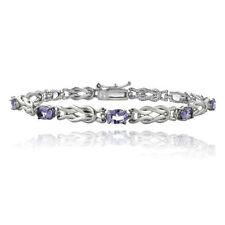 Armbänder mit Amethyst echten Edelsteinen im Kette-Stil für Damen