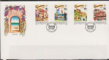 GB - JERSEY 1990 Island Festival of Tourism SG 521-524 FDC CASTLES FOOD SPORTS