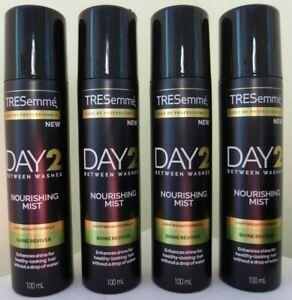 4 X TRESEMME DAY 2 NOURISHING MIST SHINE REVIVER 100ML
