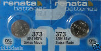 373 Renata Watch Battery SR916SW 2 Batteries