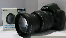 Nikon D3200 D5100 D5000 D5200 D5100 2.2x HD TELECONVERTER 52MM FAST SHIP USA