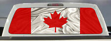 CANADIAN FLAG TRUCK REAR WINDOW GRAPHIC DECAL 50/50 PERFORATED VINYL TINT..