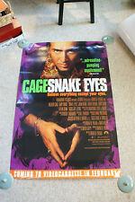 Older 1998 Movie Poster Nicolas Cage Snake Eyes Paramount Adrenaline Pumping