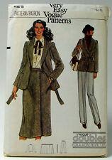 Vogue Very Easy #7210 Doubles, Size B (8-10) Jacket & Belt Skirt & Pants Uncut