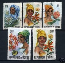 LOT DE TIMBRES OBLITERES - FLEURS - REPUBLIQUE DE GUINEE
