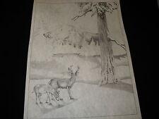 * Tri Chem 8248 Buck Doe Deer Snow Scence Liquid Embroidery Picture trichem