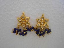 Indian Jewelry Gold Tone Bridal Pearl Kundan Bollywood Earrings Stud Wedding