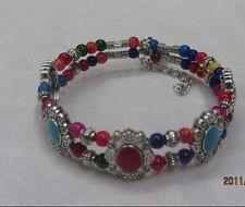 Fashion jewelry Tibet Tibetan silver ladies Lucky beads bracelet bangle 1