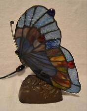 Tiffany Style Stained Glass Butterfly Accent Lamp Night Light Table Desk Lamp