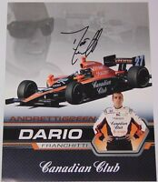 2007 DARIO FRANCHITTI SIGNED AUTOGRAPHED IRL PHOTO CARD WITH COA INDY 500 RACING