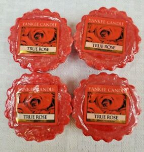 Lot of 4  Yankee Candle Tarts New Old Stock- TRUE ROSE  -Free Shipping- SEALED