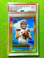 BAKER MAYFIELD PRIZM ROOKIE CARD GRADED PSA 9 MINT BROWNS RC  2018 Donruss Optic
