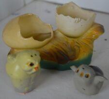 Vintage Salt Pepper Shaker Plastic Bird Nest Egg