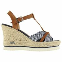 Womens SoulCal Gerri Wedges Ankle Strap Textured New
