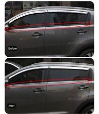 (Fits: KIA 2011-2015 Sportage) Chrome Type Stainless Door Belt Line Molding 4ps